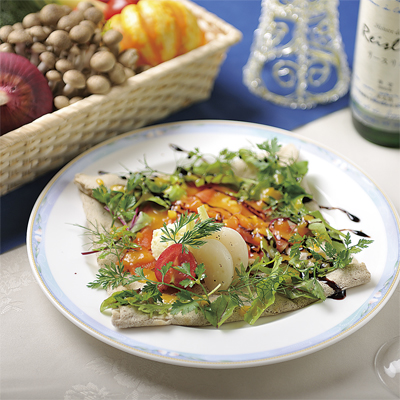 信州サーモンとマッシュポテトの重ね焼き (シードルorりんごジュース付)